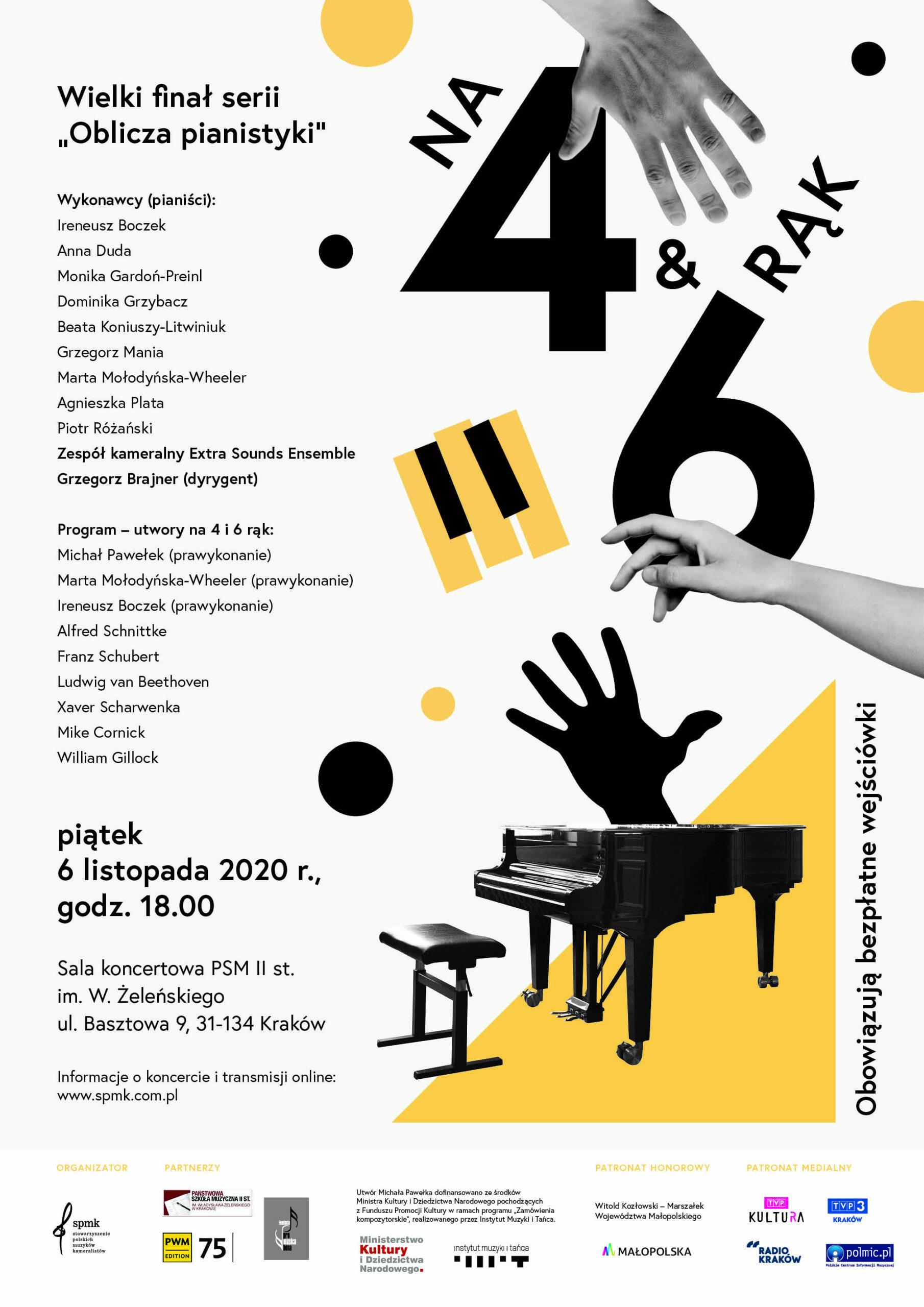 """Na 4 i 6 rąk –  Wielki finał serii koncertowej """"Oblicza pianistyki"""""""